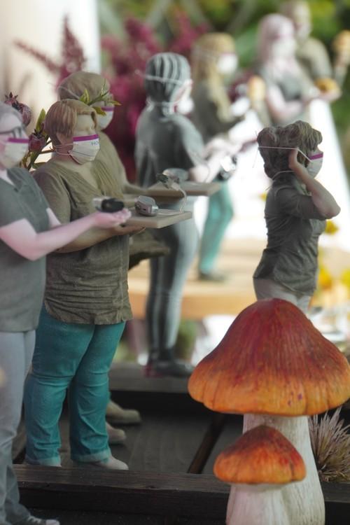 HörSinn Hörgeräte Minifiguren mit Masken