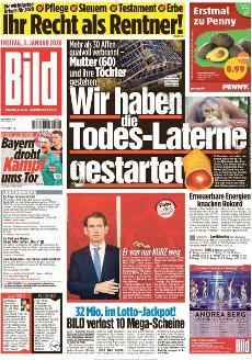 Bild-Zeitung 3. Januar 2020