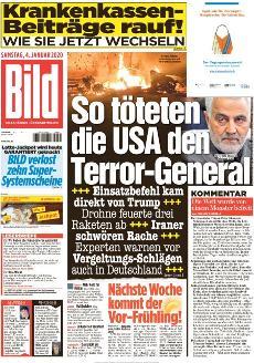 Bild-Zeitung 4. Januar 2020