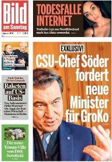 Bild-Zeitung 5. Januar 2020
