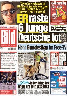 Bild-Zeitung 6. Januar 2020