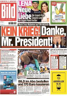 Bild-Zeitung 9. Januar 2020