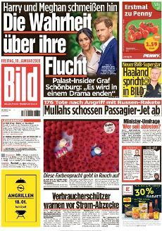 Bild-Zeitung 10. Januar 2020