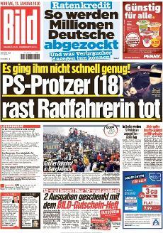 Bild-Zeitung 13. Januar 2020