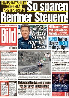 Bild-Zeitung 15. Januar 2020