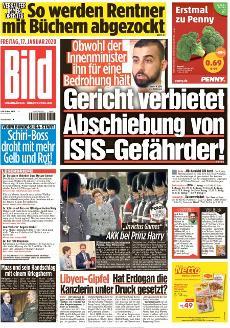Bild-Zeitung 17. Januar 2020