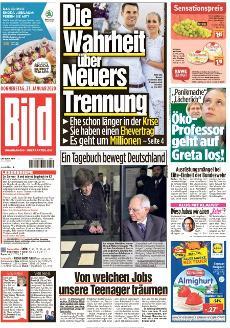 Bild-Zeitung 23. Januar 2020