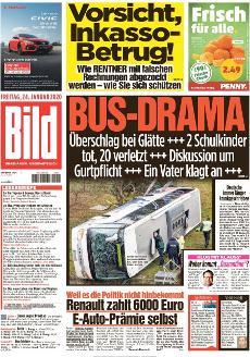 Bild-Zeitung 24. Januar 2020