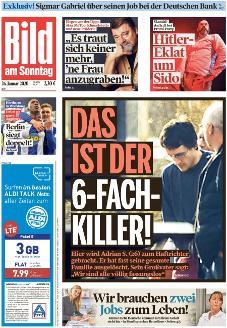 Bild-Zeitung 26. Januar 2020