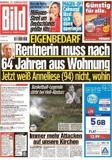 Bild-Zeitung 27. Januar 2020