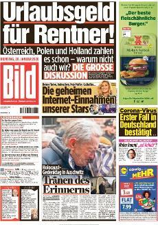 Bild-Zeitung 28. Januar 2020