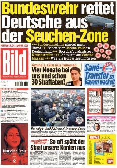 Bild-Zeitung 29. Januar 2020