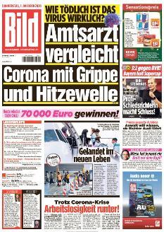 Bild-Zeitung 1. Oktober 2020