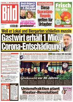 Bild-Zeitung 2. Oktober 2020