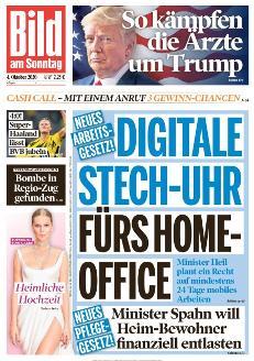 Bild-Zeitung 4. Oktober 2020