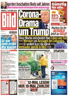 Bild-Zeitung 5. Oktober 2020