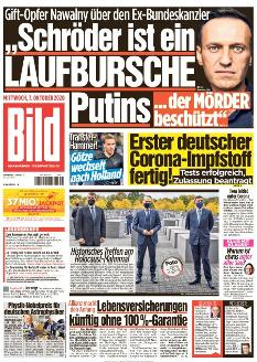 Bild-Zeitung 7. Oktober 2020