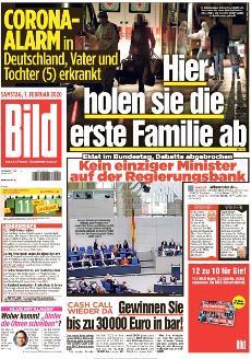 Bild-Zeitung 1. Februar 2020