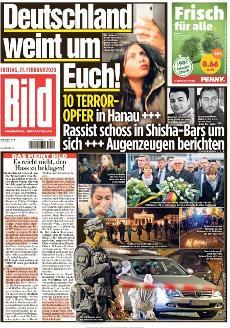 Bild-Zeitung 21. Februar 2020