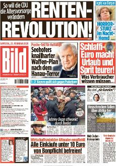 Bild-Zeitung 22. Februar 2020