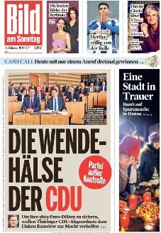 Bild-Zeitung 23. Februar 2020
