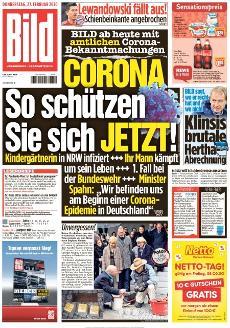 Bild-Zeitung 27. Februar 2020