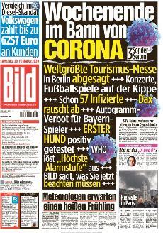 Bild-Zeitung 29. Februar 2020