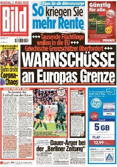 Bild-Zeitung 2. März 2020