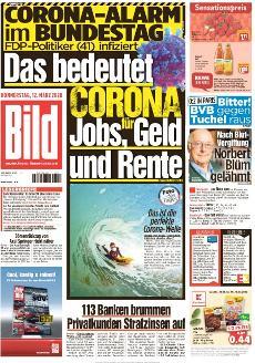 Bild-Zeitung 12. März 2020