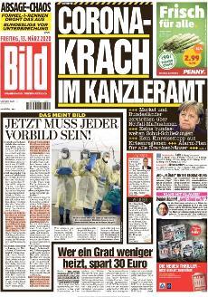 Bild-Zeitung 13. März 2020