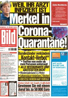 Bild-Zeitung 23. März 2020