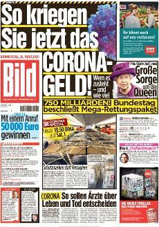 Bild-Zeitung 26. März 2020