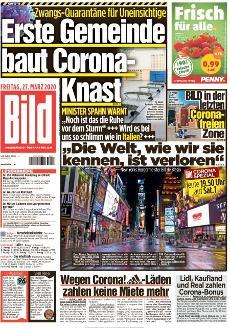 Bild-Zeitung 27. März 2020