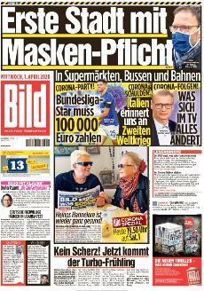 Bild-Zeitung 1. April 2020