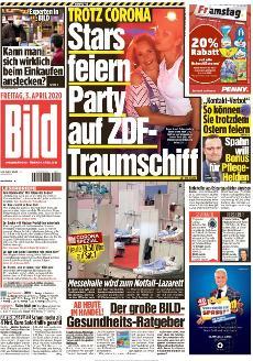 Bild-Zeitung 3. April 2020