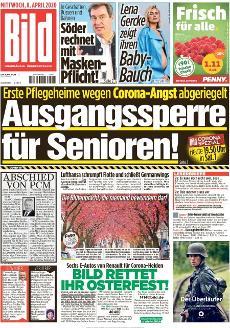 Bild-Zeitung 8. April 2020