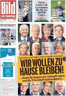 Bild-Zeitung 12. April 2020