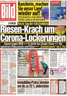 Bild-Zeitung 15. April 2020