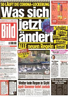 Bild-Zeitung 16. April 2020