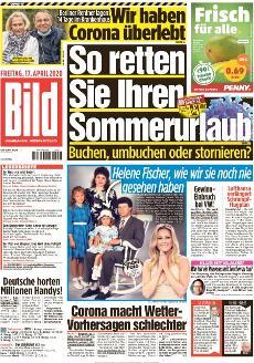 Bild-Zeitung 17. April 2020