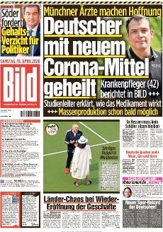 Bild-Zeitung 18. April 2020