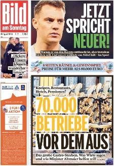 Bild-Zeitung 19. April 2020