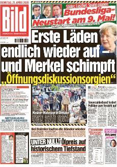 Bild-Zeitung 21. April 2020