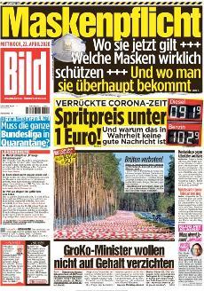 Bild-Zeitung 22. April 2020
