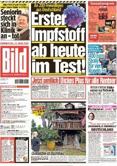 Bild-Zeitung 23. April 2020