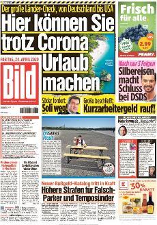 Bild-Zeitung 24. April 2020