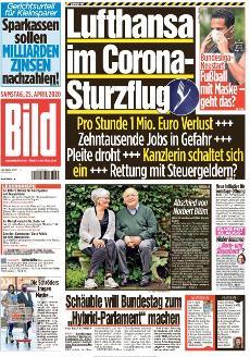 Bild-Zeitung 25. April 2020
