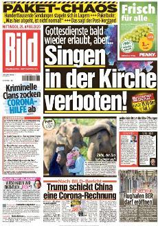 Bild-Zeitung 29. April 2020