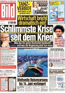 Bild-Zeitung 30. April 2020