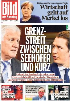 Bild-Zeitung 3. Mai 2020